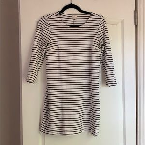 J Crew black and white striped dress